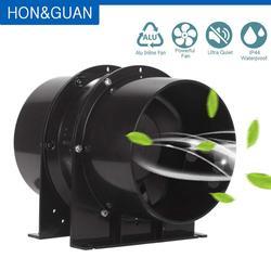 Preto todo o fã inline do duto da exaustão de aço inoxidável; ventilador de ventilação para crescer barracas, cresce a barraca com filtros de carbono, hidroponia