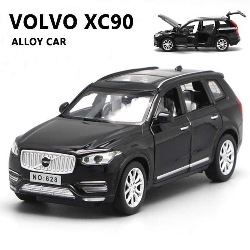 1/32 metall Druckguss Auto Modell Volvo-xc90 SUV Legierung Spielzeug Auto Sound Und Licht Pull Zurück Modell Geländewagen geschenke Für Jungen