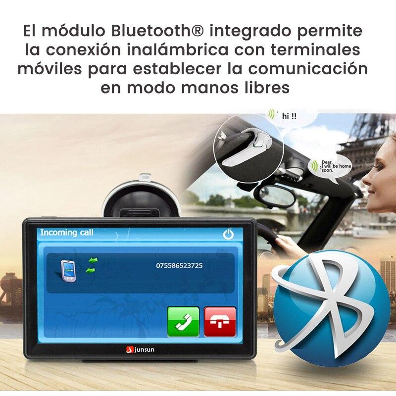 Junsun 7 Inch Hd Car Gps Navigation With Fm Bluetooth Avin Multi Languages Europe Sat Nav Truck Car Gps Navigator With Free Maps