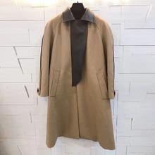 Abrigo de invierno para mujer de alta calidad de lana de ortografía retro elegante abrigo largo chaqueta de manga larga 2019 nuevo