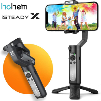 Hohem iSteady X 3-Axis Gimbal Stabilizer for Smartphone,0.5lbs Lightweight Foldable Phone Gimbal for iPhone 11 pro max/Xs/Samsun 1