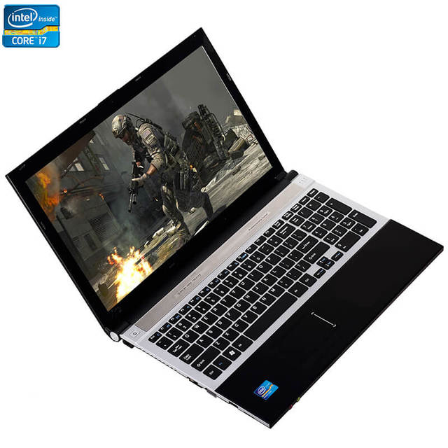 15,6 дюймовый процессор Intel Core i7 8 ГБ ОЗУ 1 ТБ HDD Windows 7/10 система DVD RW RJ45 Wifi Bluetooth Функция быстрая работа ноутбук