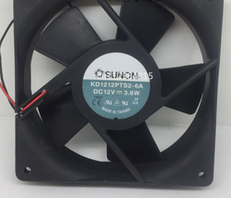 Free Shipping KD1212PTS2-6A Server Cooler Fan DC 12V 3.6W 120x120x25mm 2-wire