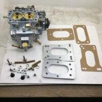Carburador de carburador carb sherryberg fajs empi 38 dgas + kit adaptador para toyota 22r 20r weber 38x38 carburador 38/38 dgas