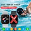 Zurexa Iwo W26 Smart Watch Men Women 44mm 1 75inch Full Touch Screen Sport IP68 SmartWatch With Pedometer For Ios Android 2020 promo
