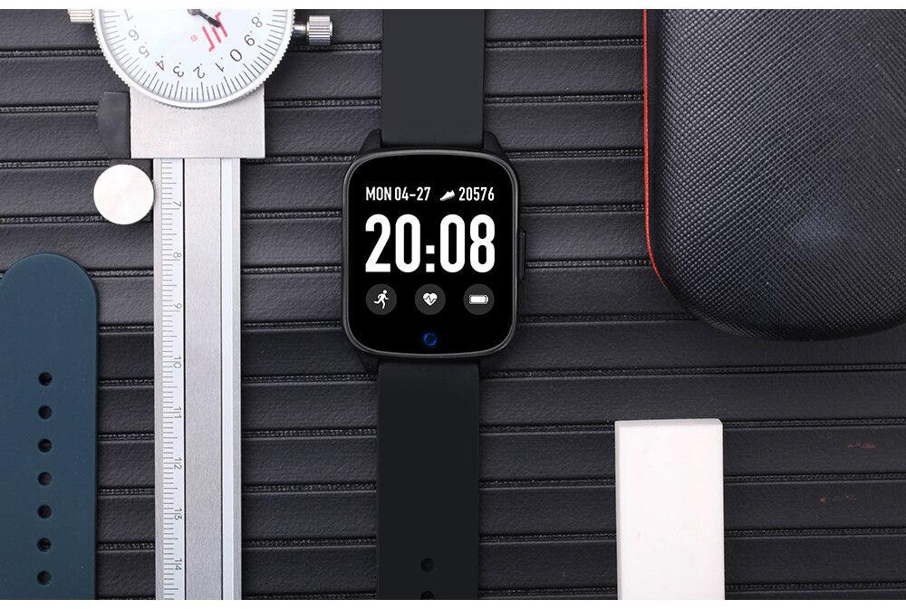 2020 mulheres relógios inteligentes pulseira monitor de