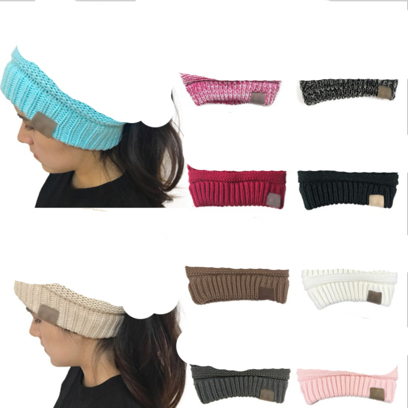 WZCX 2019 New Solid Color Keep Warm Autumn Winter Horsetail Cap Outdoor Casual Tide Stripe Women Beanie Knitted Hat