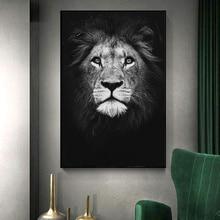 Lienzo pintura de animales arte de pared León elefante ciervos carteles de cebra e imprime cuadros de pared para la decoración de la sala de estar decoración del hogar