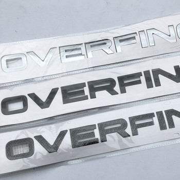Car Styling Refitting Hood Rear Trunk Lower Bumper Sticker Chrome Black Carbon Letters Emblem Badge for Range Rover OVERFINCH edge chrome abs car trunk rear number letters badge emblem decal sticker for ford edge
