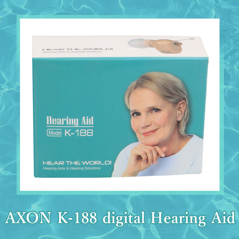 AXON K-188 digital hearing aid sound voice amplifier adjustable sound mini device old man deaf can hear clear sound