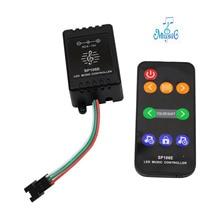 9keys SP106E DC5V-12V  LED Music Controller WS2811 /WS2812B /6812 /1903/6803 LED colorful music controller