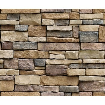 Simple Rustic Stone Brick Removable PVC Wall Roll Living Room Bedroom Restaurant Background Loft 3d Wall Paper background wall image