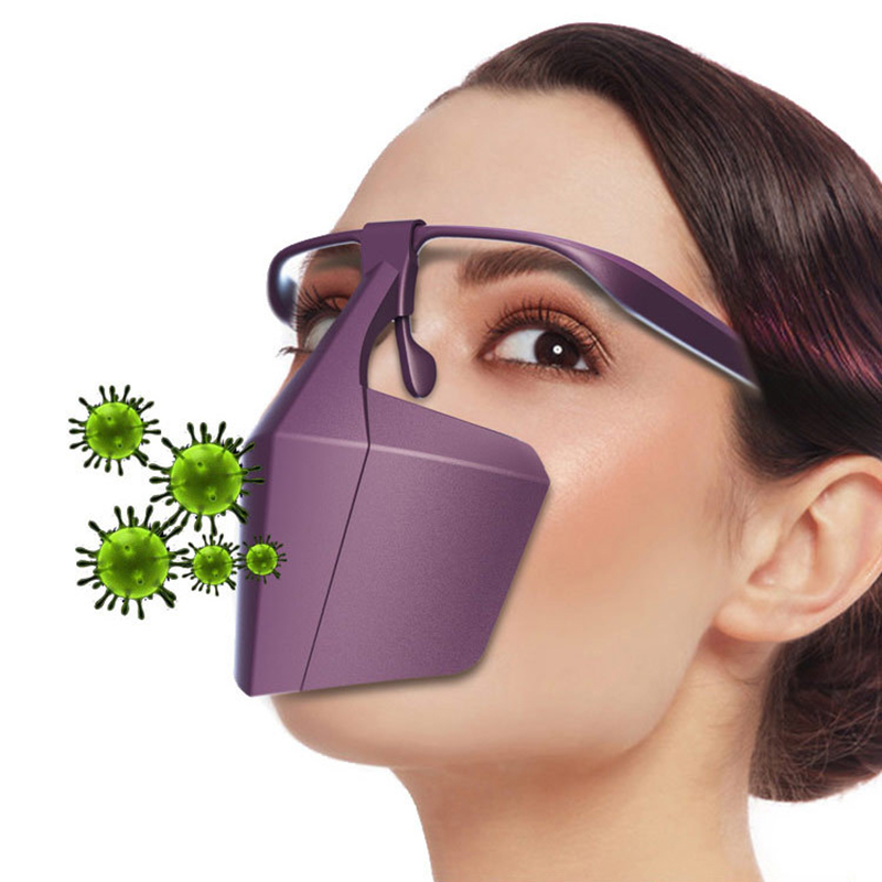 DROPPSHIPING Plastic Protective Mask Against Droplets Anti-fog Isolation Face Mask Reusable Protective Cover Isolation Shield