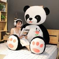 100cm Hot Selling Cute Big Panda Doll Plush Toy Animals Pillow Kids Birthday Christmas Gifts Cartoon Toys Nap Sleeping Pillow