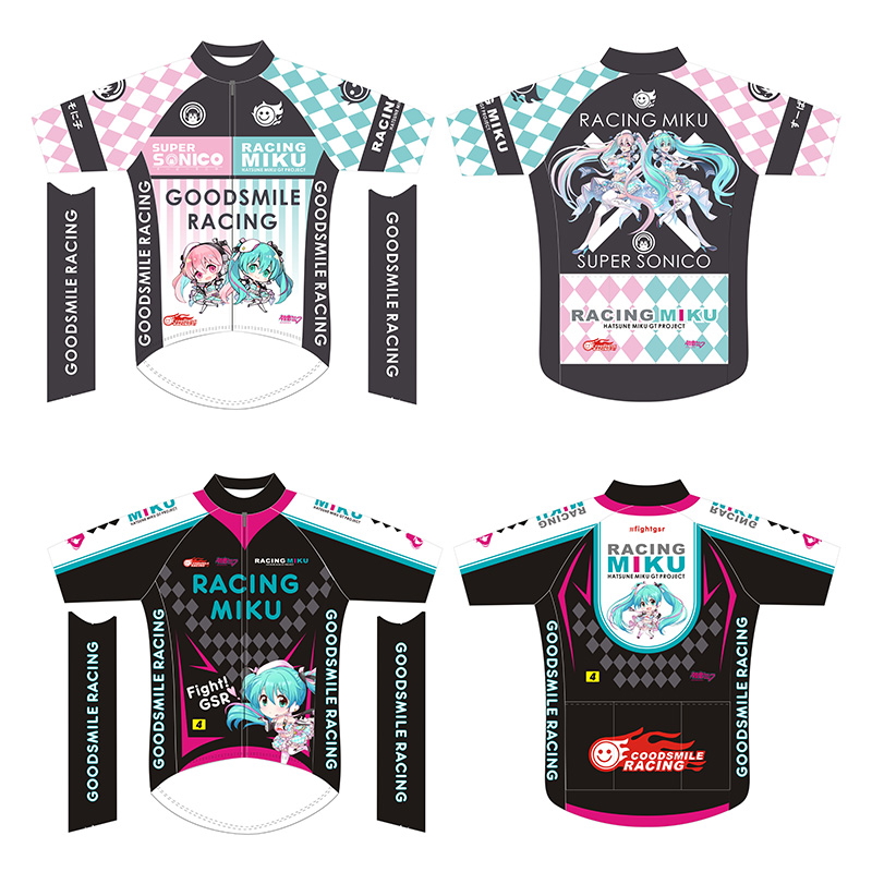 Crossrider 2019 Hatsune Miku Costume Cosplay Mens Cycling Clothing MTB Uniform Top Jersey Bike Biking Shirt Short Racing gear