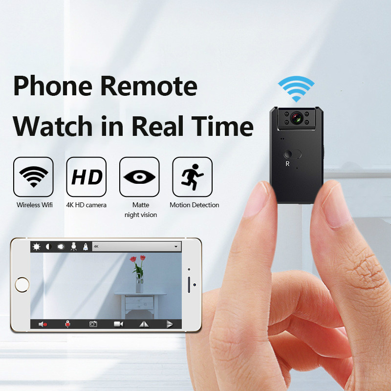 180 Degree Rotatable <font><b>MINI</b></font> <font><b>Camera</b></font> Cloud IP <font><b>Camera</b></font> <font><b>4K</b></font> WiFi Wireless Smart Auto Tracking Of Human Home Security CCTV Baby Monitor image