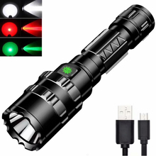 Waterproof L2 flashlight 18650x1 battery 1600lumens 5 switch modes rechargeable hunting outdoor resc