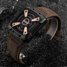 Kademan Top Merk Luxe Mannen Horloges Waterdichte Sport Vierkante Lederen Band Quartz Horloge Casual Horloge Mannelijke Relogio Masculino