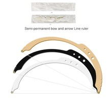 Professional Microbalding Line Maker Eyebrow Ruler Permanent Makeup Measuring Tools Use for Eyebrows Design