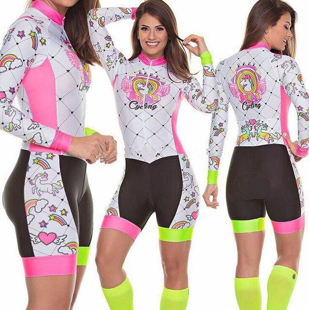 Terno de triathlon profissional, camiseta de ciclismo preta feminina, macacão, manga longa em gel, conjunto de ciclismo, 2019 3