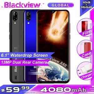 Blackview A60 смартфон с 6,1-дюймовым дисплеем, четырёхъядерным процессором, ОЗУ 1 ГБ, ПЗУ 16 ГБ, Android 8,1, 4080: 9, 19,2 мАч, 3G мобильный телефон