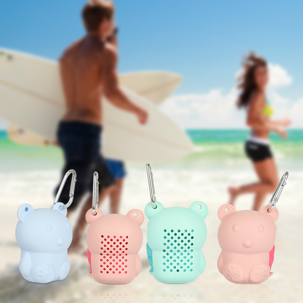 Outdoor Sport Bag Women Travel Camping Microfiber Quick-Drying Beach Swim Gym Shower Bath Cold Towel Silicone Bag