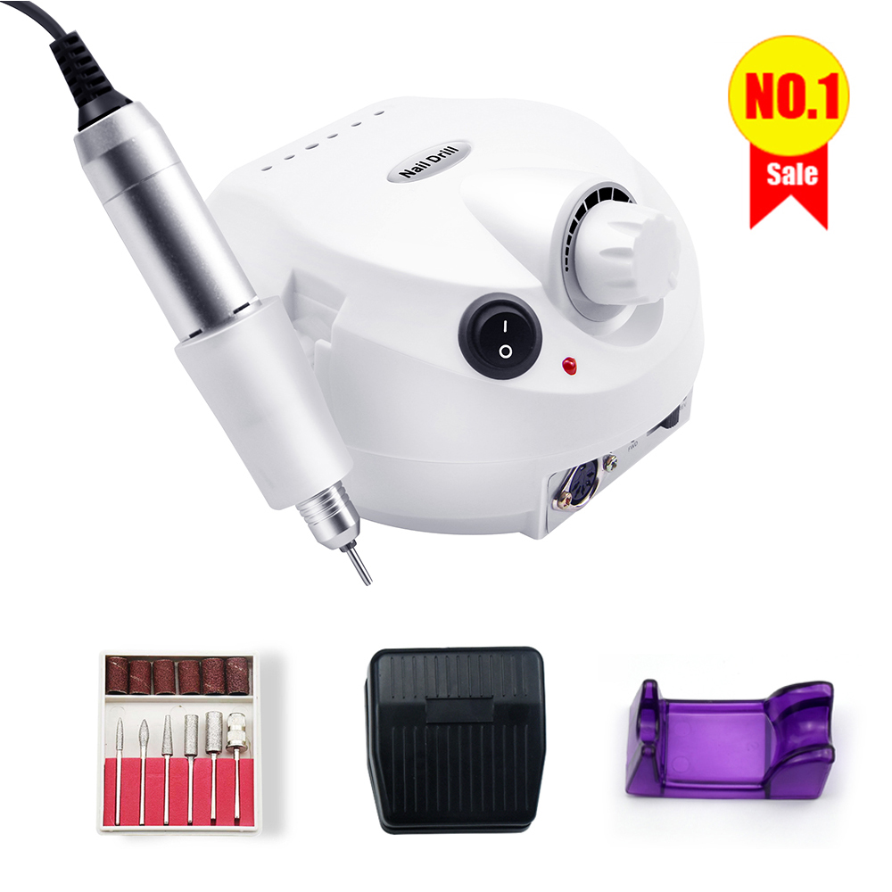 Professional Electric Nail Drill Machine E-file Grinder Polisher Kit Manicure Pedicure Drill for Acrylic Nail Tool for Gel Nails