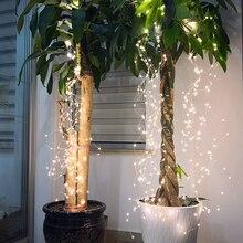 LED Curtain Vine-String-Lights Waterfall Christmas-Tree-Lights Wedding-Decor Eu-Copper-Wire