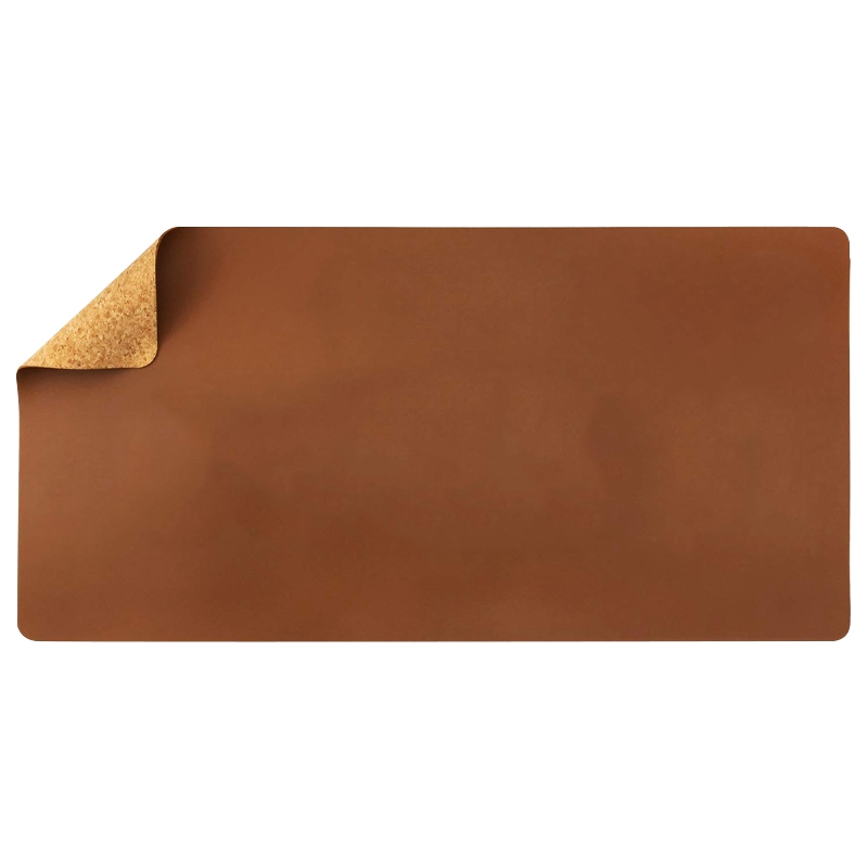 Friendly Natural Cork & Leather Double-Sided Office Desk Mat 31.5 Inch X 15.7 Inch Mouse Pad Smooth Easy Clean Waterproof PU Lea