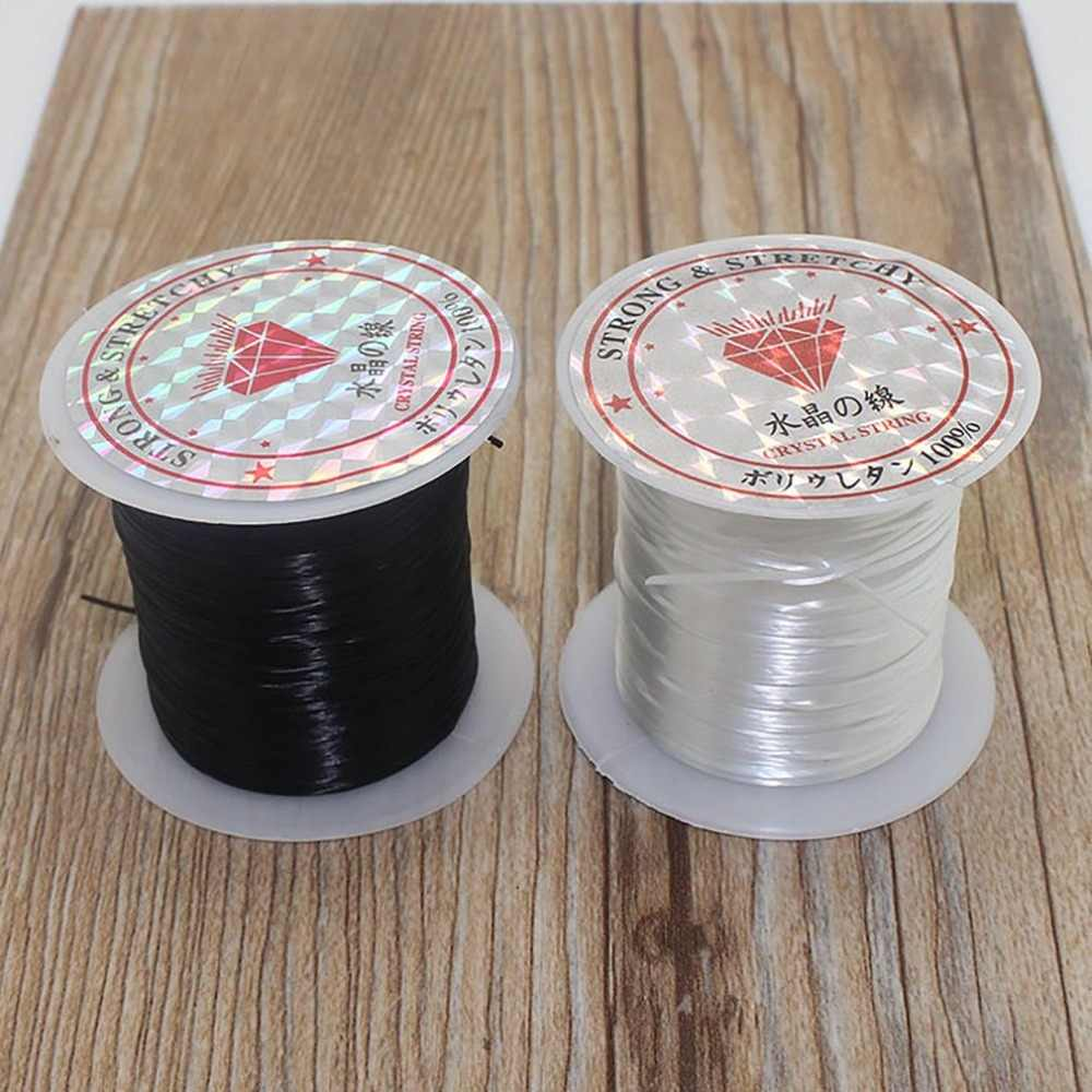 40m(43Yard) Flat Elastic Crystal Stretch String Polyester Cord for Jewelry Making Bracelet Beading Thread Craft Accessories