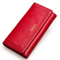 Women's Genuine Leather Wallet Fashion Long Clutch Big Capacity Coin Purse with Phone Pocket Card Holders