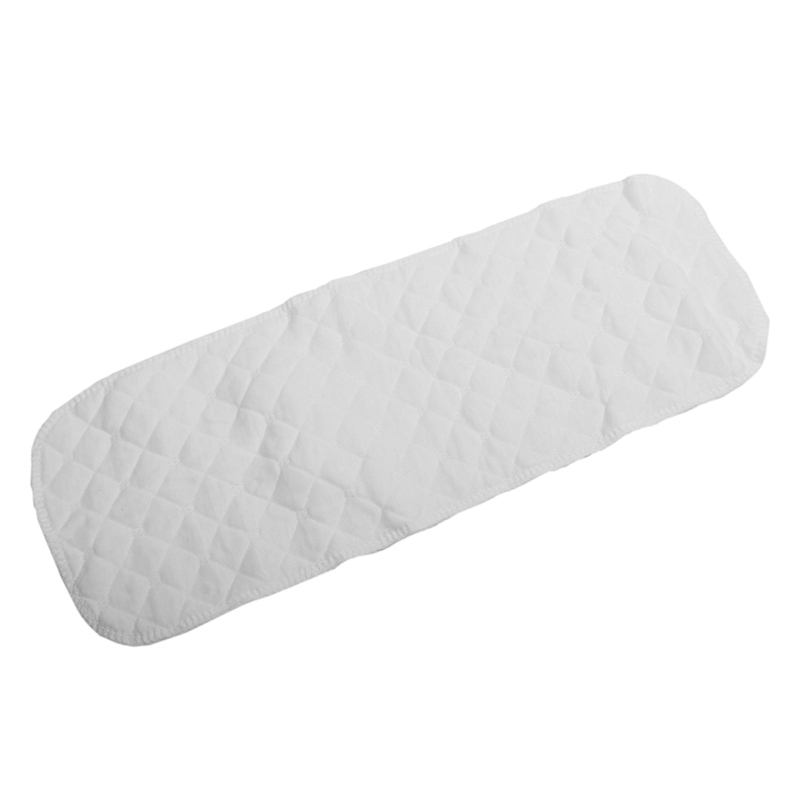 Reusable Soft Baby Diapers Cloth Diaper Inserts 3 Layers 100% Cotton Washable White L