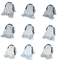 Baby Stroller Cover Muslin Stroller Nursing Canopy Breastfeeding Sun Shade Craddle Blanket Trolley Cover Carseat Bed Accessories(China)