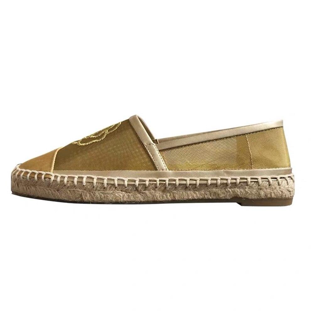 Chaussures pour femmes 2019 nouveau printemps été maille Espadrilles chaussures sans lacet mode vente chaude chaussures plates pour femmes grande taille 42