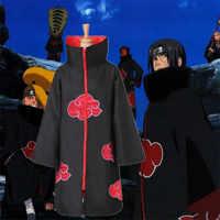 Hot Japan Anime Naruto Akatsuki Robe Cosplay Kostüme Uchiha Itachi Obito Mantel Mann Frau Kind Halloween Comicon Kleidung