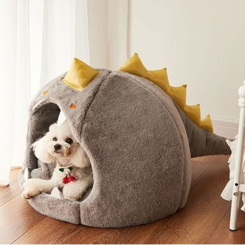 dog bed house four seasons universal enclosed house small dog teddy removable bed cat house winter warm pet supplies Dog Bed House Dinosaur Shape Kennel Keeps All Seasons Warm Small Dog Teddy Universal Cat Bed Removable and Washable Pet Supplies