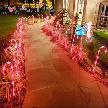 Luces navideñas para el camino Candy de Navidad, decoración para el jardín,...