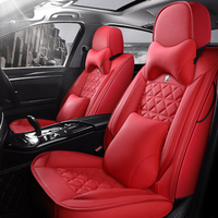 Full Coverage Eco leather auto seats covers PU Leather Car Seat Covers for audi a3 8l 8p 8v sportback a4 b5 b6 b7 avant b8 b9