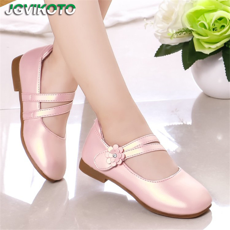 Girls Casual Flats Fashion Princess Flower Girl Mary Janes Flat Soft With Floral Children Shoes For Wedding Party Birthday Sweet