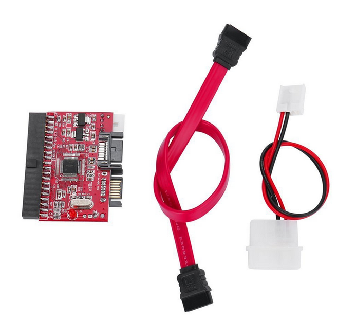 Sata To IDE/IDE To SATA Converter 2-way Adapter-Red