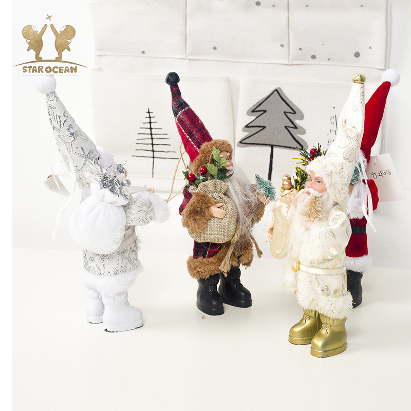 Christmas Hang Decoration Tree Hanging Ornaments Gift Santa Claus Toy Doll Decorations