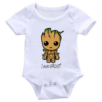 2019 wysokiej jakości śpioszki niemowlęce chłopcy dziewczęta kombinezony Cute Cartoon Onesies stroje letnie ubranka dla dzieci tanie i dobre opinie COTTON Poliester Moda O-neck Body Unisex Krótki