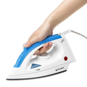 1200W Electric Steam Iron 5 Speed Adjustable Clothes Ironing Steamer Portable Ceramic Soleplate Garment Steam Generator