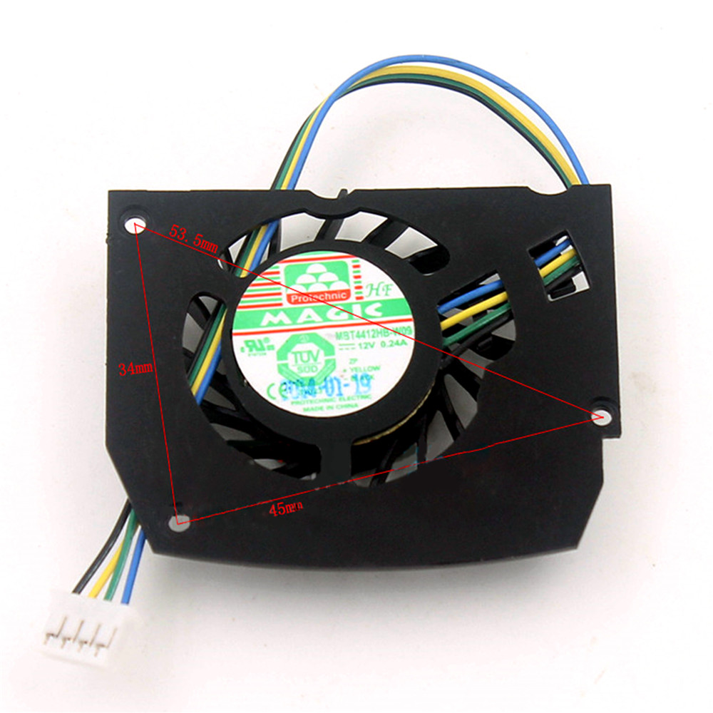 1pcs Replacement MAGIC Graphics Card Cooler Cooling Fan MBT4412HB-W09 DC12V 0.24A 4Pin