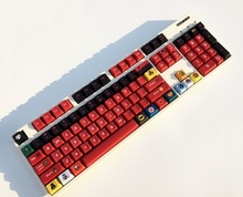 1 set 60/87/104 keys Super Hero PBT Dye Sublimation Keycaps mechanical keyboard Key caps for MX switch