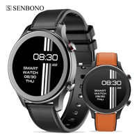 SENBONO-reloj inteligente con Bluetooth para hombre, pulsera deportiva con reproductor de música, para IOS, Android, Huawei y teléfono Xiaomi, 2021