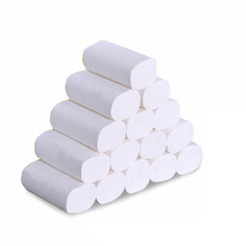 14 Rolls Natural Wood Pulp Toilet Paper White 4Ply Bulk Tissue Bathroom Soft Skin-Friendly Toilet Tissue
