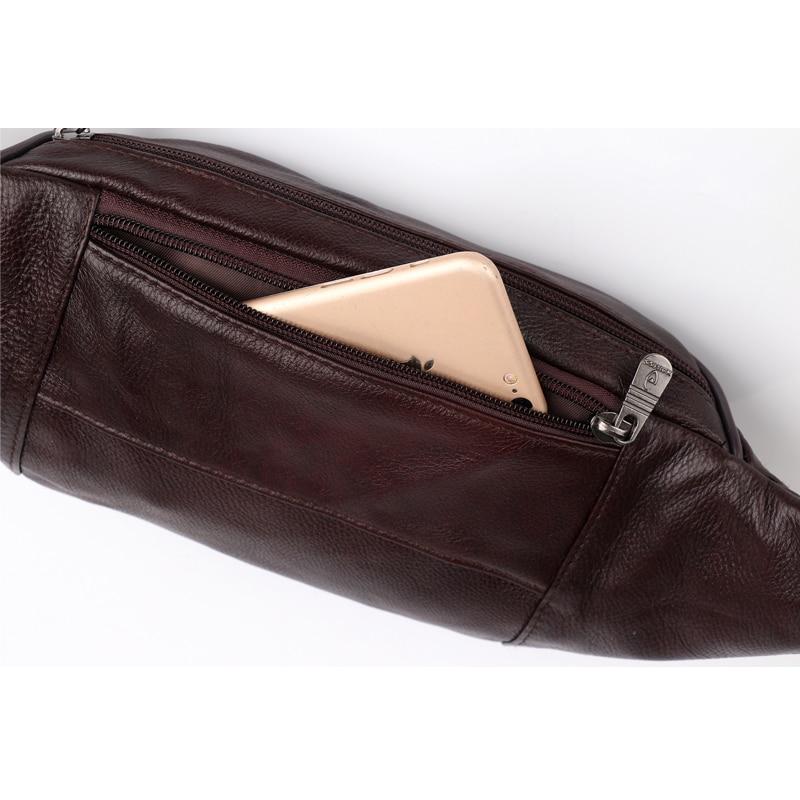 Image 5 - ZZNICK, 2020 натуральная кожа, Мужские поясные сумки, поясная сумка, сумка для телефона, сумки для путешествий, поясная сумка, Мужская маленькая поясная сумкаПоясные сумки   -