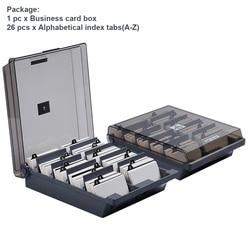 Pudełko na wizytówki biurowe o dużej pojemności  alfabetyczne  szpitalne  szkolne  ABS  przechowywanie  półprzezroczysty  klasyfikacja  uchwyt  plik w Przechowywania w domu i biurze od Dom i ogród na