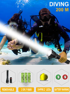 Diving-Flashlight Dive-Torch Xhp90.2 Led 26650 18650 200m for IXP8 Profession